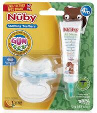 3 x Nuby Apaisante Jouets De Dentition Gomme-Zee 4 m + silicone souple dentition...
