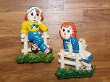 Raggedy Ann and Andy WALL PLAQUES - 1977 Bobbs Merrill