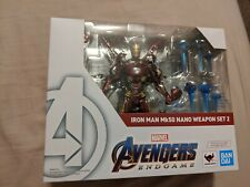 Used Avengers Endgame Iron Man Mk50 Nano Weapon Set 2 SH Figuarts Bandai