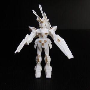 Figurine robot A02 mécanique articulé blanc jaune or plastique vintage N7456