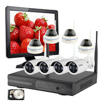 720P Security System Wireless For Home CCTV WIFI Surveillance W/HDD Monitor 8CH