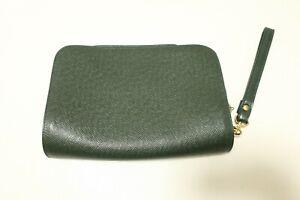 Authentic Louis Vuitton Taiga Baikal Clutch Bag Episea Green Leather #7552