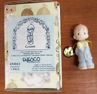 Enesco 1989 Precious Moments - Groom Mini Pewter Figurine  # 694843 NOS