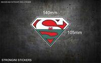 Welsh Superman Car/Window Vinyl Sticker wales Superman Flag Sticker