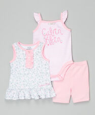 Calvin Klein Jeans Gray & Pink Heart Skirted Tunic Set - 24 months NWT Baby Girl
