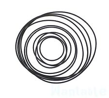 More details for 10 mixed 28 - 90mm rubber drive belt for cassette tape deck bulk wholesale