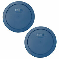 Pyrex 7201-PC Blue Spruce Plastic Storage Replacement Lid Cover (2-Pack)