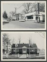 Wallkill Shawangunk Ulster Co. NY: Two c.1960s Postcards MAIN STREET, TOWN HALL