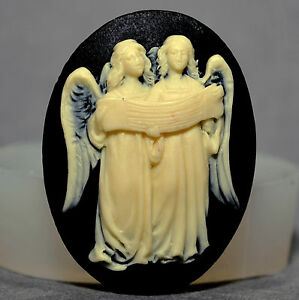 ANGELS CAMEO  - silicone mould Cupcake polymer clay chocolate resin fimo mold