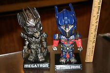 Transformers Wacky Wobbler Bobble Head Lot - Megatron, Optimus Prime JSH