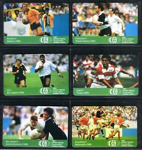 Hong Kong 1991 Rugby 7 set of 6 mint 5x HK$10 & HK$25 1,500 set's issued.