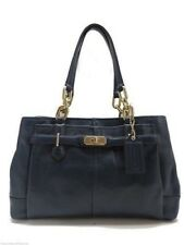 Coach Chelsea Jayden East West Carryall Tote Handbag Midnight Blue Leather New!