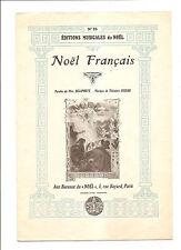 NOEL FRANCAIS PERE DELAPORTE THEODORE DECKER EDITIONS MUSICALES DE NOEL PARIS