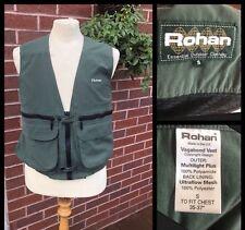 "ROHAN : Men's (VAGABOND) Military Green Utility Gilet / Waistcoat : Small / 38"""