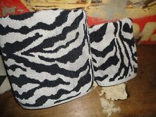 SCENT-SATION SAFARI ZEBRA STRIPE ANIMAL BLACK WHITE (2PC) SET BATH & HAND TOWEL