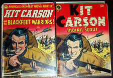 KIT CARSON nn#1 (1950) +KIT CARSON #1 Realistic Reprint 1953 Golden-Age Western