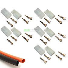 5 x par de conectores de la batería Tamiya RC 7.2v & encogimiento del calor coche barco Airsoft UK