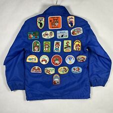 Vintage Boy Scouts Tiger Cub Patch Jacket BLUE size 10-12