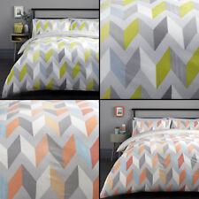 Grafix Geometric Duvet Quilt Cover Bedding Set - Multi/Grey
