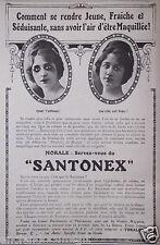 PUBLICITÉ 1919 SANTONEX PRODUIT DE BEAUTÉ TOKALON - ADVERTISING