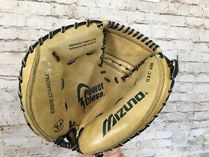 MIZUNO GXC100 Power Close Youth Catchers Mitt Leather Baseball Glove LH Thrower