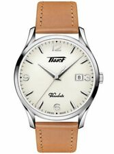 New Tissot Heritage Visodate Brown Leather Strap Mens Watch T1184101627700