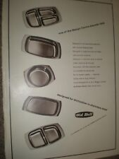 Stainless steel dishes by Old Hall advert 1962 ref AW