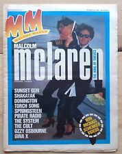MELODY MAKER 25 AUG 1984 MALCOLM MCLAREN THE CULT OZZY SPRINGSTEEN FGTH MARILLIO