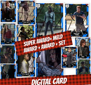 Topps Card Trader Twd The Walking Dead Super Award Meld Set Empowered Blue 1