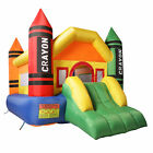 Inflatable Bounce House Jumper Castle Bouncer W/Slide & Mesh Wall for Kids 3~10