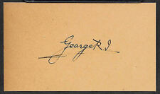 King George V Autograph Reprint On Genuine 1910s 3x5 Card