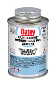PVC Cement,Blue,4  oz. OATEY 30890