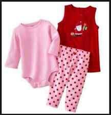 5d08b4c93 Conjunto de 3 Piezas Carters Para Jumper Vestido Enterito Leggings 3 M 3 M  nuevo con etiquetas Santa Vacaciones Rojo