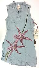 Da-Nang Surplus Traditional Chinese Style Shirt Dress - Indigo Size M