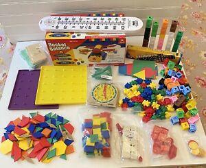 SAXON Student Math Manipulatives Kit K-3rd Grade Dominoes Geometric Shapes