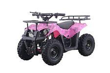 500W 36V Electric Battery Kids Boys Ride On Mini Quads 4 Wheeler ATV Pink Toy