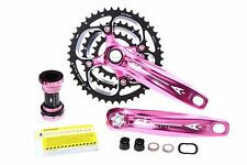 Aerozine X12 Mountain Bicycle Bike Crankset 9s 10s 44/32/22t 170mm 175mm Pink