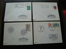 FRANCE - 4 enveloppes (cy80) french