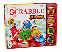 HASBRO Scrabble Junior Board Game Crossword Ages 5+ / NEW SEALED