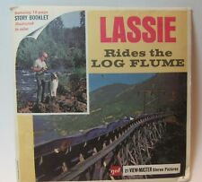 Vintage 1968 B489 Lassie Rides the Log Flume Collie TV viewmaster Reels ONLY