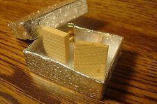 BLANK Scrabble Tile Monogram Letter Initial Cufflinks 1 Pair (Two) Gold Plate