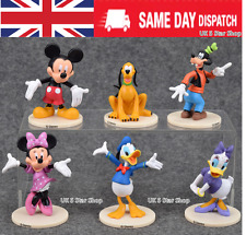 6PCS MICKEY CLUBHOUSE Action Figure MOUSE Set Minnie giocattolo cake topper