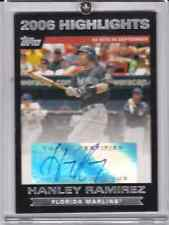 Hanley Ramirez 2007 Topps, 2006 Highlights Auto #HAHR Marlins Red Sox