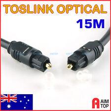 15M Toslink Optical Digital Audio Cable Fibre Optic S/PDIF 15 Meters O.D 4mm
