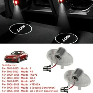 2xLED Door Courtesy Laser Projector Shadow Lights For Mazda 6 8 CX-9 RX-8 ATENZA