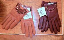 NWT UGG Australia Shorty Gloves S Chestnut or Cardovan Dark Brown