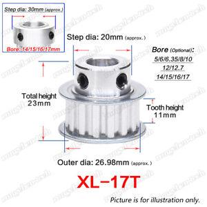 XL17T Timing Belt Pulley Gear Wheel 5-17mm Bore 1/5″ Pitch For 10/15mm Wide Belt