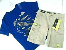 NEW Gap Fish T-shirt Boys M Cotton Blue Gray Tee Shirt  8 9 Lee Sports Shorts