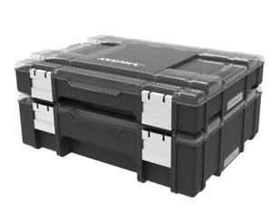 Husky 36-Compartment Interlocking Small Parts Organizer (2-Pack) #1005955567