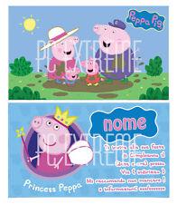 Biglietti - Inviti Compleanno personalizzati PEPPA PIG 30 Pz
